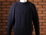 FK-ARAN SWEATER  (NAVY)