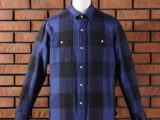 FK-BIG CHECK FLANNEL/LONG (BLUE) ¥20,000- [FRONT SIDE]